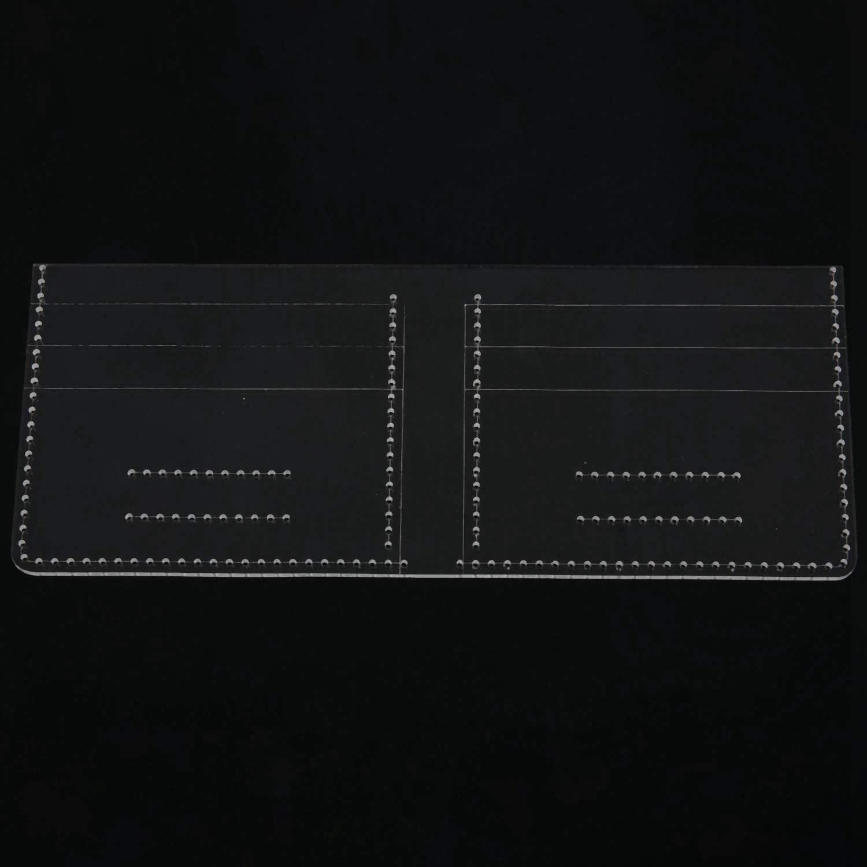 Casinlog 13 piezas nuevo acr/ílico transparente patr/ón de cartera plantilla conjunto de plantillas de cuero manualidades herramienta DIY patr/ón de costura plantillas de costura plantillas