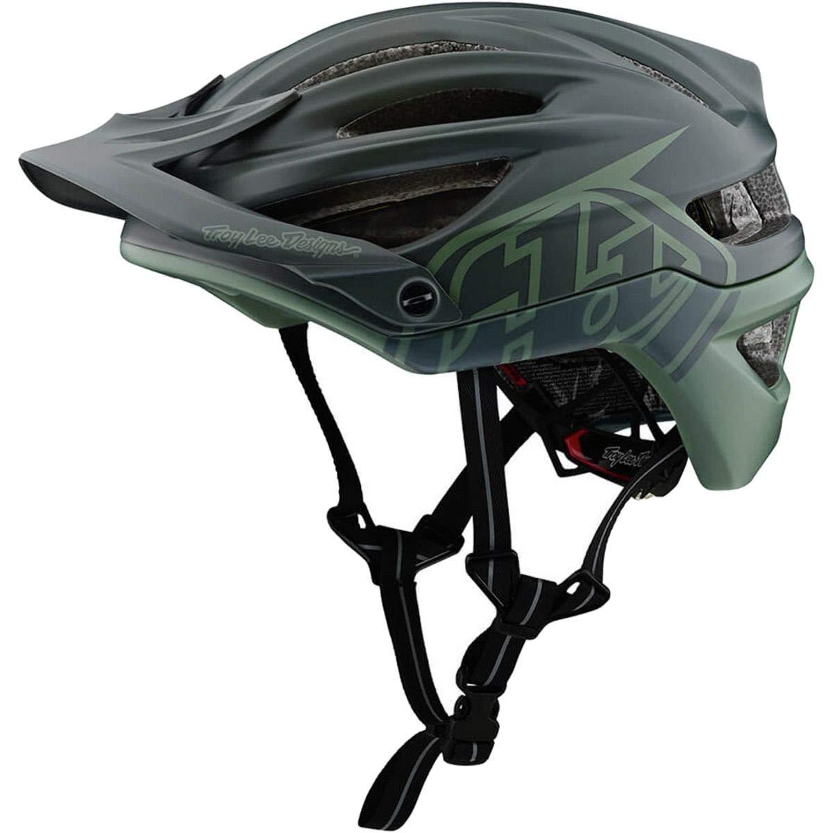 Troy Lee Designs Adult A2 MIPS Decoy Mountain Bike Bicycle Helmet (X-Large/XX-Large, Black/Flight Green)