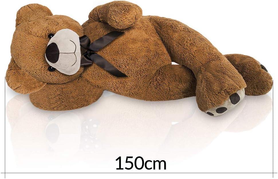 Grand Nounours Ours en Peluche g/éant XL Brun Teddy Bear 150 cm Doux Moelleux
