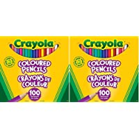 Crayola Coloured Pencils, 100 Count (2 Pack)