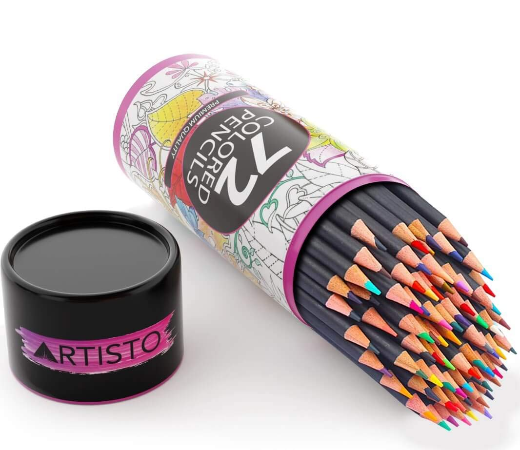 Artisto 72 Colored Pencils, Soft Core, Art Coloring Drawing Pencils for Adult Coloring Book, Sketch,Crafting Projects by Artisto (Image #2)