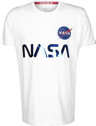 ALPHA INDUSTRIES NASA Reflective Camiseta: Amazon.es: Ropa y accesorios