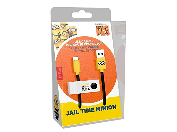 Tribe Minions - Cable Micro USB para Android, Samsung, HTC, Nokia ...