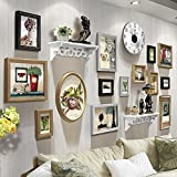 Home@Wall photo frame Photo Frame Wall Sets Of 14, Living Room Combination Bedroom Photo Frame Creative Frame Wall Combination Suspension Child Photo Wall Decorative Paintings Set ( Color : C )