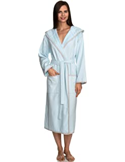 b4b8f2aefc MINTEKS Luxury Bath Robe Women s Hooded Lightweight Cotton ...