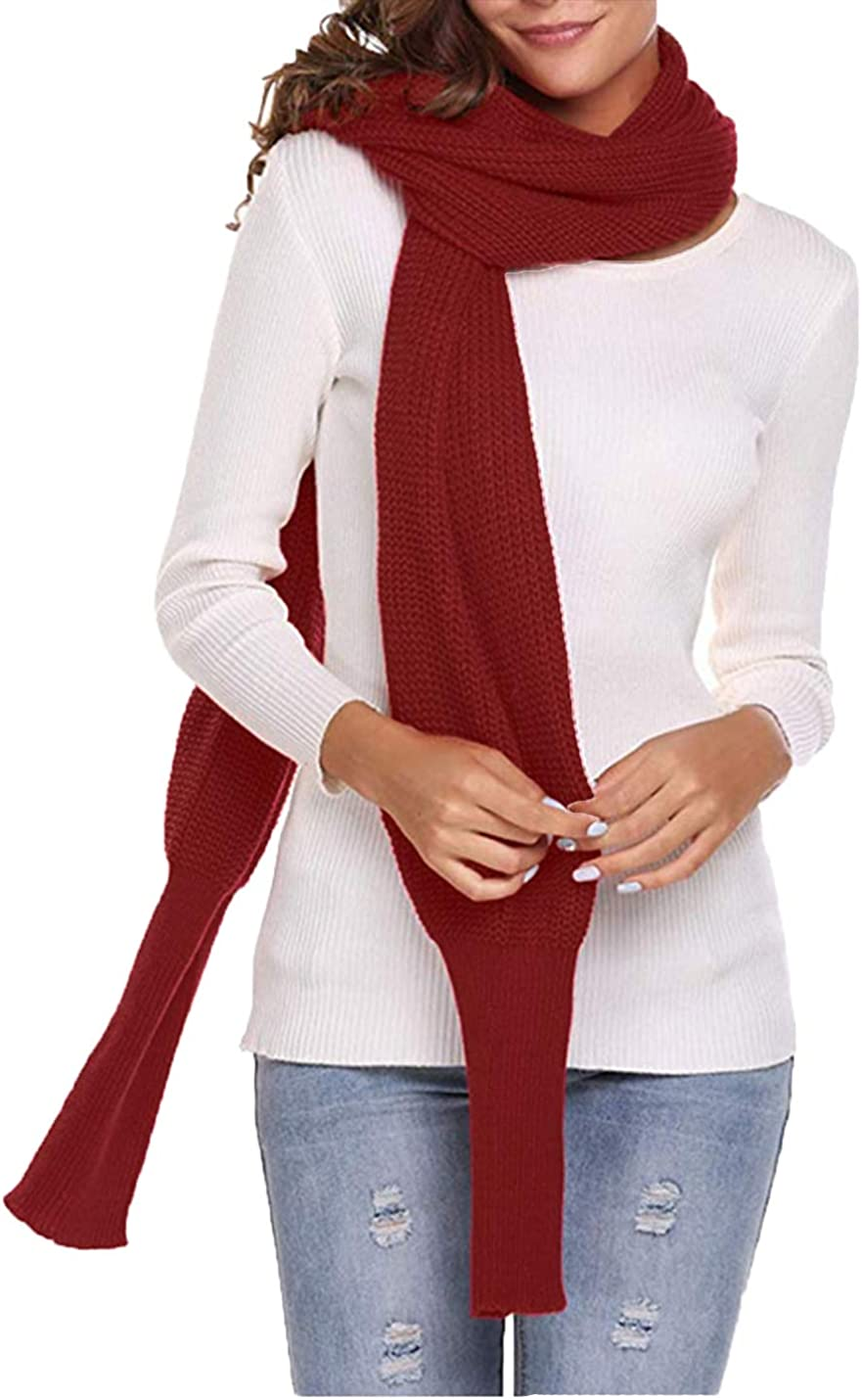 PUWEI Women's Multi Way Knit Shawl Wrap Sweater Coat with Sleeves