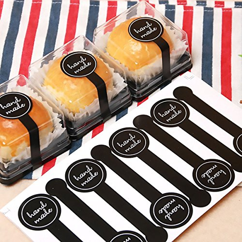 200 Pack Plastic Bags Wrapping Package Party Favor Bags with Handmade Stickers for Cookie Cake Chocolate Candy ()