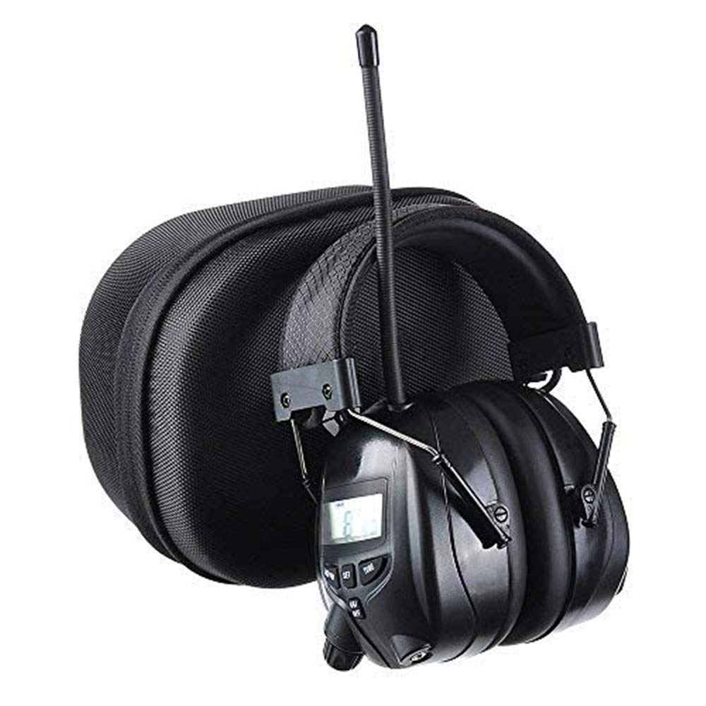 PROTEAR AM FM Radio Headphones for Mowing, Noise Reduction Rate 25dB,Radio Hearing Protection Safety Earmuffs for Work Outside with a Carrying Case by PROTEAR