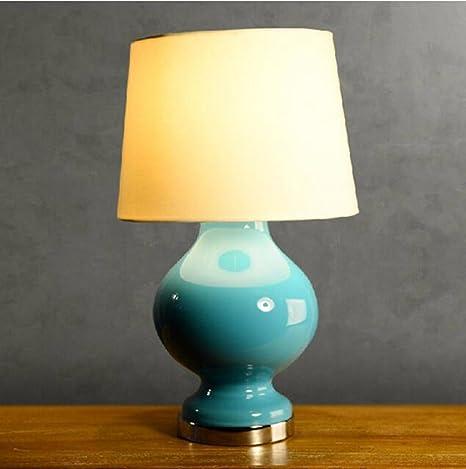 CJSHV-Lámpara de mesa Jardin Modelo Sala, Vidrio Azul ...