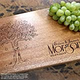 Personalized Cutting Board, Custom Keepsake, Engraved Serving Cheese Plate, Wedding, Anniversary, Engagement, Housewarming, Birthday, Corporate, Closing Gift #404