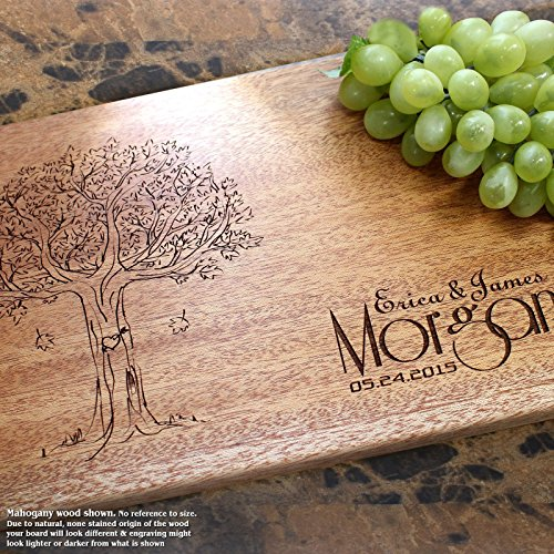 Board, Custom Keepsake, Engraved Serving Cheese Plate, Wedding, Anniversary, Engagement, Housewarming, Birthday, Corporate, Closing Gift #404 ()