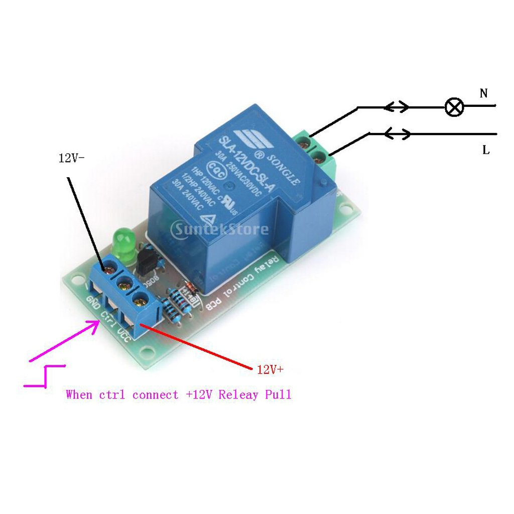 5 12v 30a High Power Input Relay Module Optocoupler This Is How You Control A Gives Proper Isolation Automotive