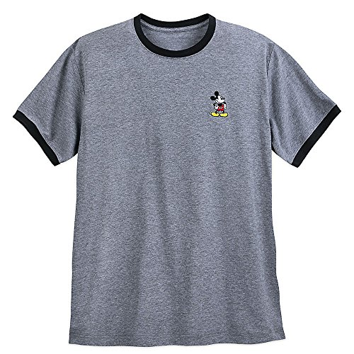 Disney Mickey Mouse Embroidered Ringer T-Shirt For Men Size 2XL -