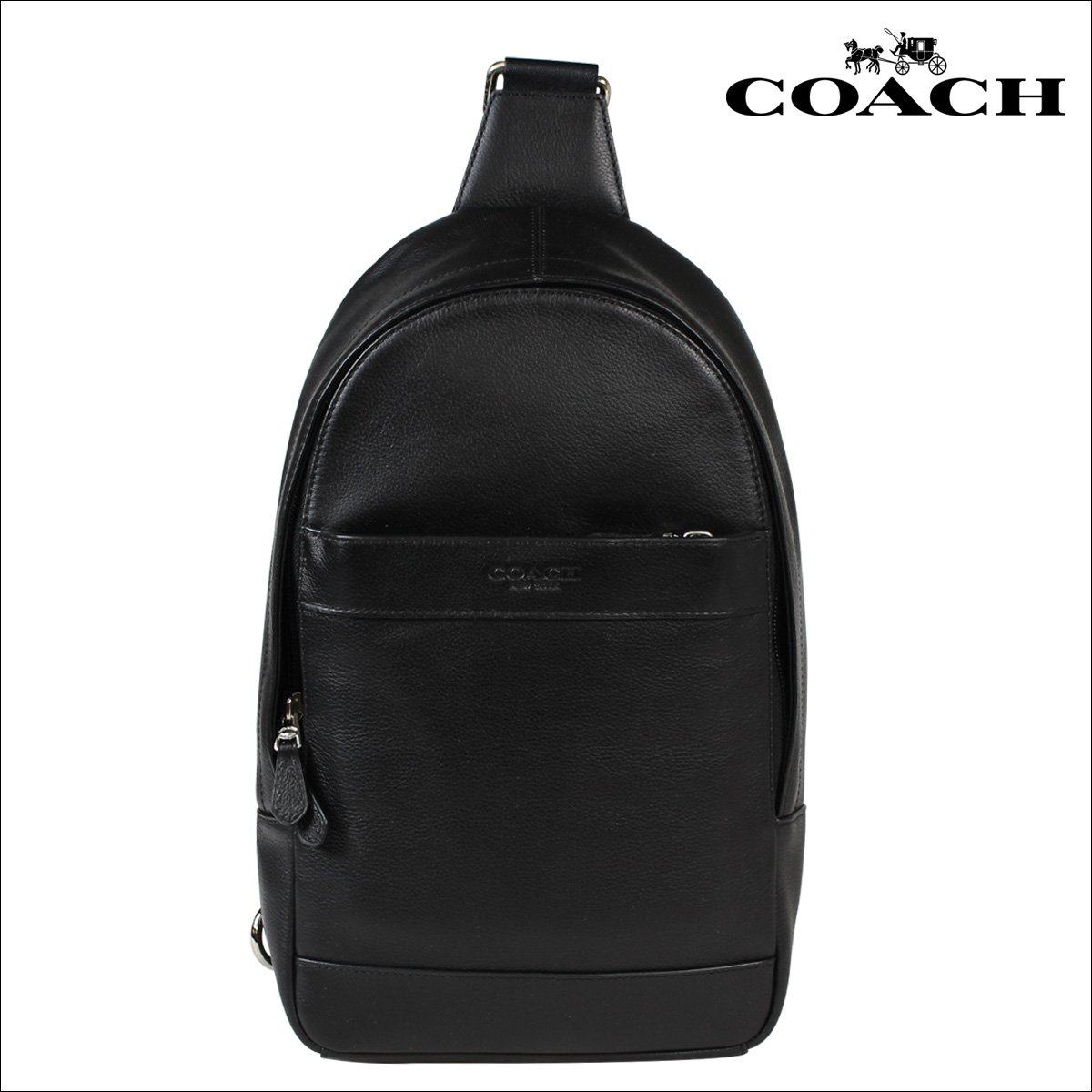 45243be7fadc Galleon - Coach Mens Leather Shoulder Crossbody Bag Charles Pack Backpack  Black F54770