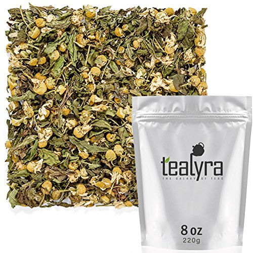 - Tealyra - Chamomile and Spearmint - Herbal Loose Leaf Tea - Calming and Relaxing Tea - Caffeine-Free - 100% Natural Ingredients - 220g (8-ounce)