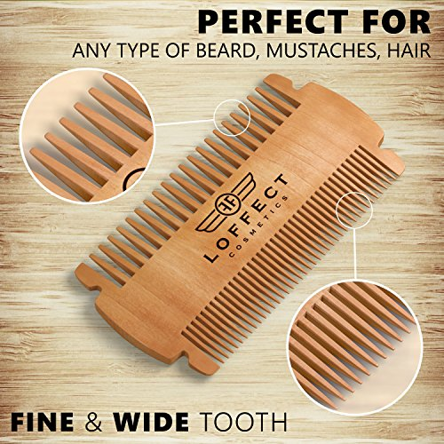 Wood Beard Comb For Men Wooden Comb For Mustaches Mens Import