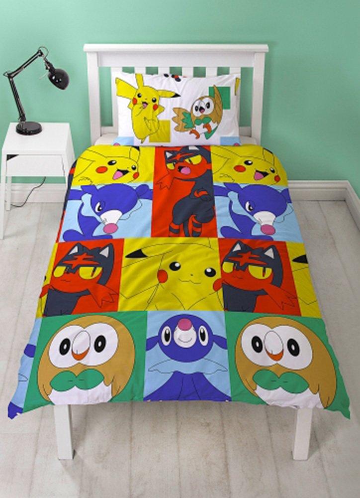 Pokemon Go Newbies ''reversible'' Single Duvet Cover Bedding Set