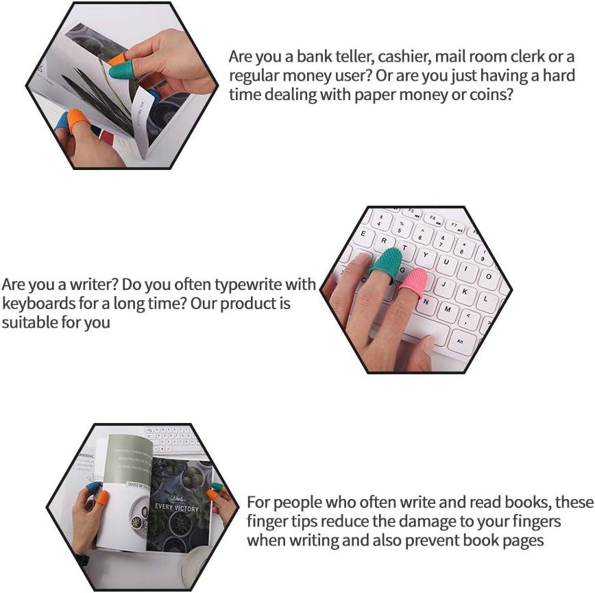 5 couleurs Elibeauty Lot de 20 protections de doigts en caoutchouc r/ésistant /à la chaleur pour les doigts anti-empreintes digitales