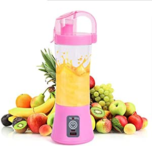 Ice-Beauty-ukzy Mini Personal Blender, Smoothie Blender Portable Juicer Blender 500ml Fruit Mixing Machine with USB Recharging, for Home,Office,Sports,Travel, Outdoorspink