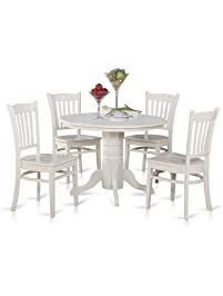 East West Furniture SHGR5 WHI W 5 Piece Kitchen Table And Chairs Set