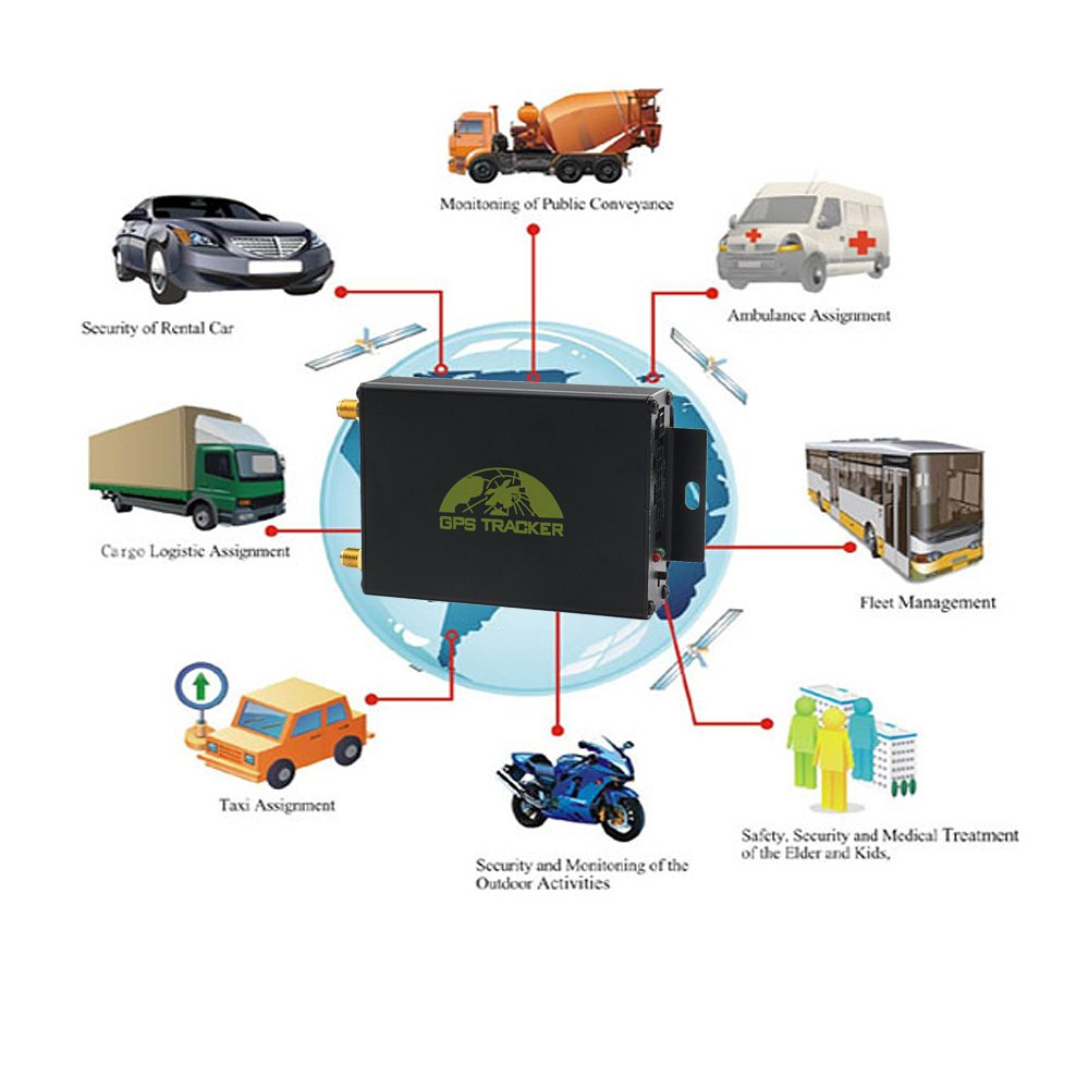 amazoncom sourcingbay vehicle gps tracker car tracking drive burglar alarm devices gpsgsmgprs system gps105a black cell phones accessories
