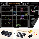 Famistar Large 24 x 36 Wall Monthly Calendar Chalkboard,Erasable Meno Wall Decal Sticker with Whiteboard Planner Keep Home Decor, Kitchen, Office, Kids Room