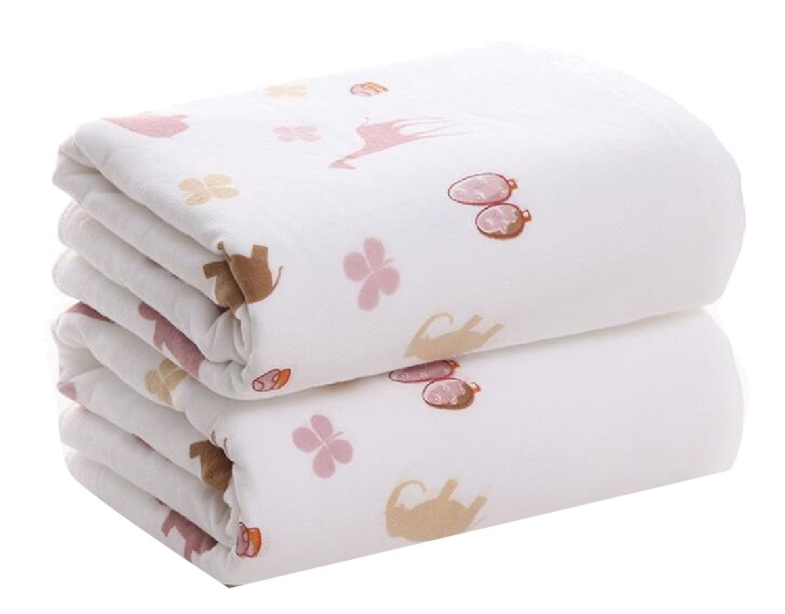 Sheng Xi Cotton Super Soft No Fading Ideal for everyday use Multipurpose Antibacterial Double Layers Floral Bath Sheet AS2 70140cm