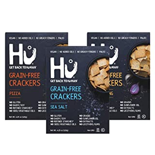 Hu Paleo Vegan Crackers | Variety 3 Pack | Keto Friendly, Gluten Free, Grain Free, Low Carb, No Added Oils, No Refined Starches