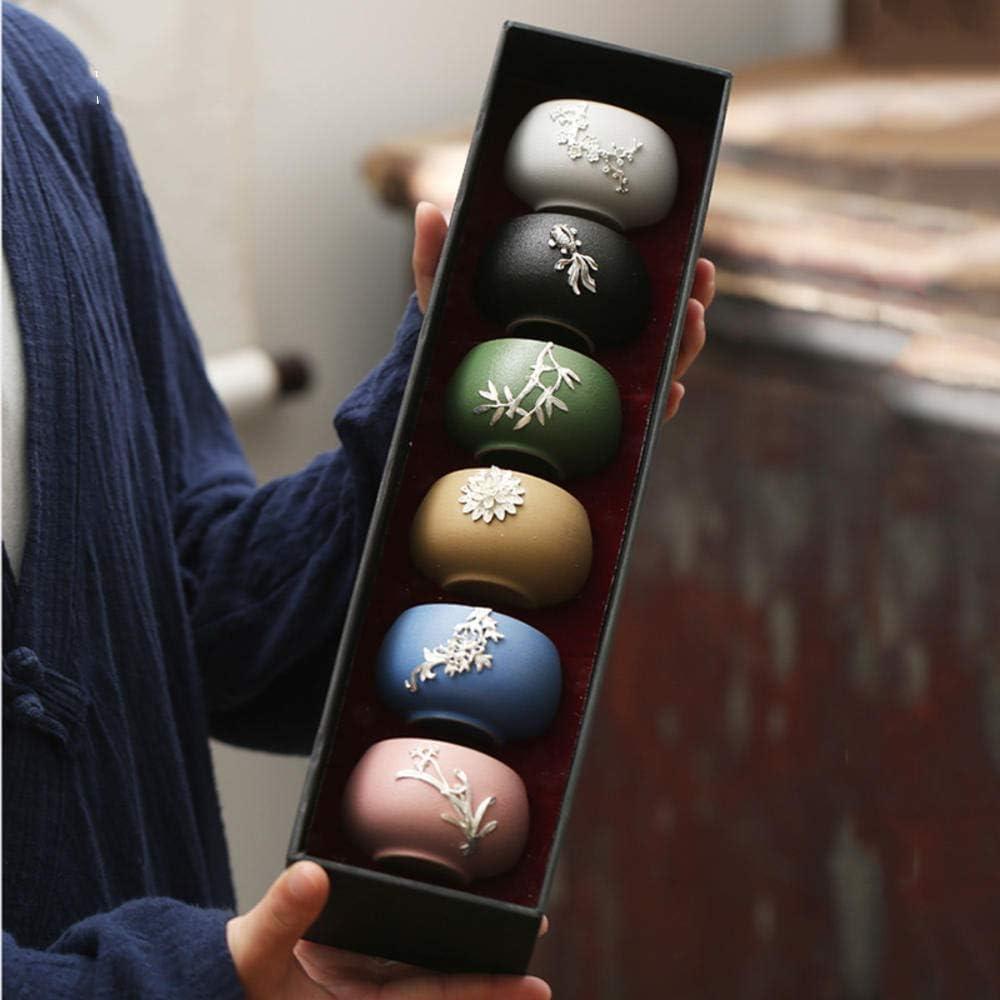 xikaiai Taza De Té De 50 Ml Taza De Té Maestra De Arte Vintage Tazas Pequeñas De Sake Accesorios para La Ceremonia del Té Utensilios para Té Utensilios para Beber Decoración De