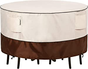 Bestalent Patio Furniture Covers Outdoor Round Table Furniture Set Cover Waterproof 72 Inch Diameter