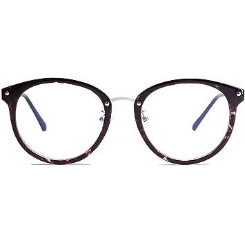 7aecaf8845cc VANLINKER Clear Lens Eyeglasses Anti Blue Light Computer Reading Glasses  VL9001 (C9-T Purple