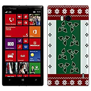 Skin Decal for Nokia Lumia 929 - Knitted Red White Green Design