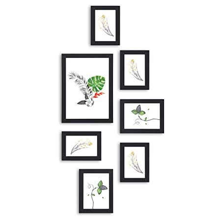 SONGMICS Picture Frame Set of 7 Pieces, in 3 Different Sizes, One A4 ...