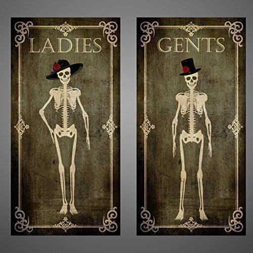 Skeletons door signs,Toilet,Bathroom,Laundry,Bedroom,Office,Kitchen,skull,gothic
