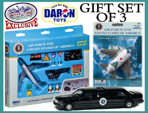 One Playset Force Air (Daron Presidential Transportation Air Force One Deluxe Gift Set)