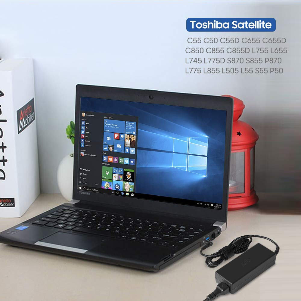 KFD 75W 65W Adaptador Ordenador PC Portátil Cargador para Toshiba Satellite L755 C855-22T C855-2ff L770 C55-C-1mo C55 C50 C655 C655D C850 C650-15U ...