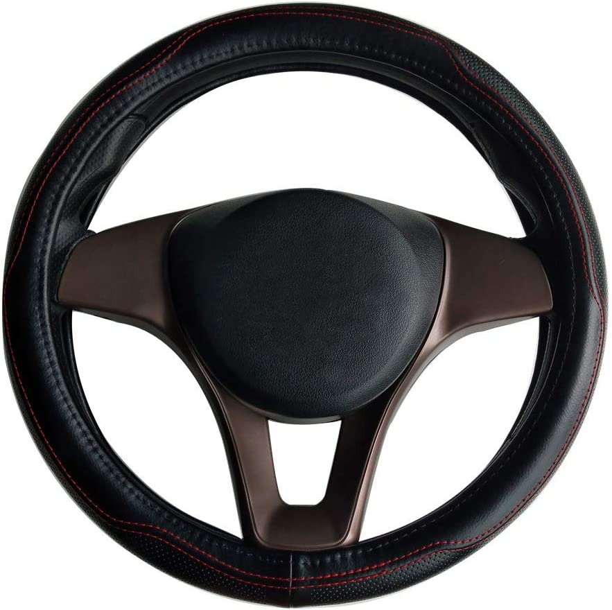 Cover Car Steering Wheel Leather Protector Durable Breathable Anticover for F‐PACE E‐PACE I‐PACE XE XF XJ