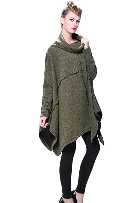 729aae4d03010 Mordenmiss Women s Oversized Sweater Spring Day Bat Shirt Style 1 Army Green  One Size at Amazon Women s Clothing store