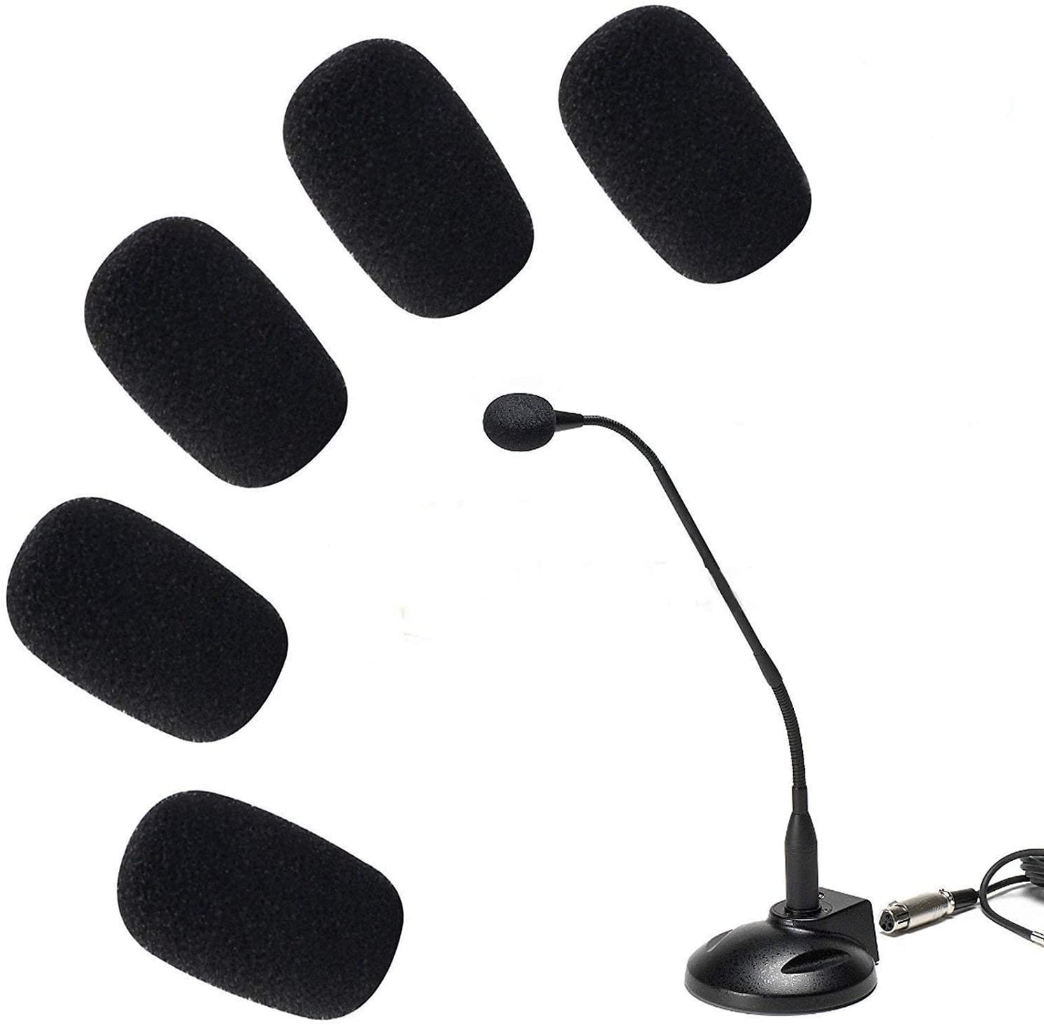 5PCS Handheld Stage Microphone Windschutz Schaum Mic CoverYRDE