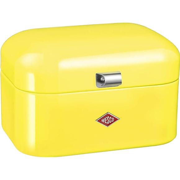 Wesco Lemon Yellow Single Grandy Bread Bin