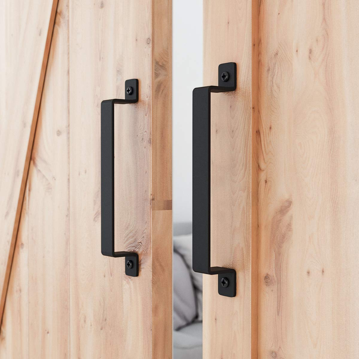 "SMARTSTANDARD 12"" Heavy Duty Barn Door Long Pull Handle for Gate Kitchen Furniture Cabinet Closet Drawer (2 PCS)"