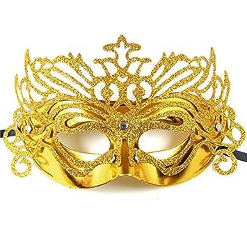 SOUTHSKY Cosplay Mascara Mascara de Polvo de Oro de la Corona de Reina