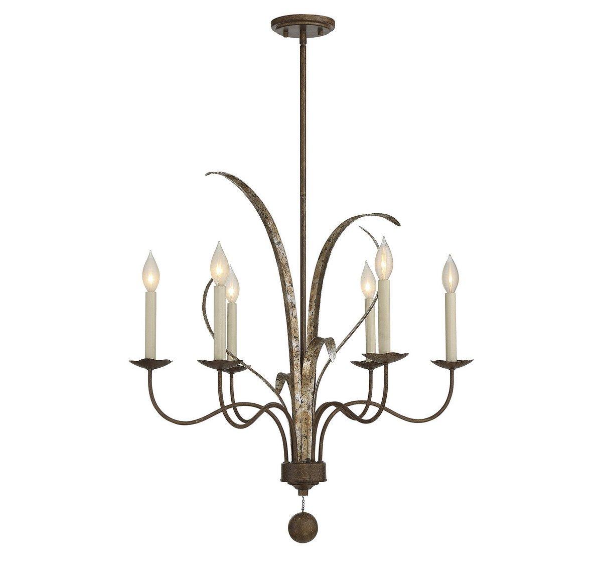 Savoy House 1-4020-6-124 Mandolin 6-Light Chandelier in Fiesta Bronze