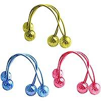 3 Pairs Acrylic Butterfly Ball Hair Circle Elastic Hair Bands Handmade Women Barrette Girls Hair Accessories (Assorted…