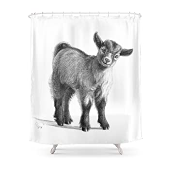Society6 Goat Baby G097 Shower Curtain 71quot