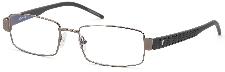 d492f78e666d Amazon.com  Mens Rectangular Glasses Frames Gunmetal Prescription Eyeglasses  Rxable 54-18-140  Clothing