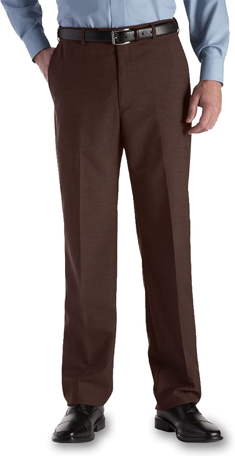 Austin Reed Self Sizer Wool Blend Flat Front Big Size Dress Pant At Amazon Men S Clothing Store