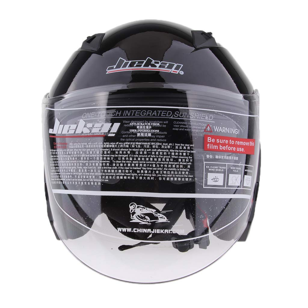 H HILABEE Jet-Helm Motorrad-Helm Roller-Helm Motorradhelm Rollerhelm Jethelm Farrad Helm Halbschale f/ür Damen Herren Mattschwarz L