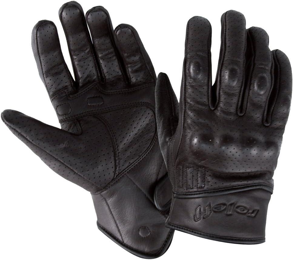 Noir Roleff Racewear Gants en Cuir XS