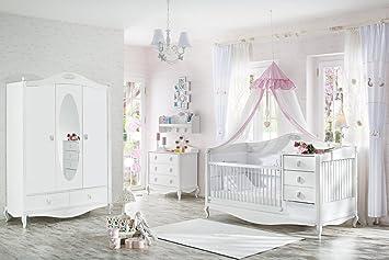 Babyzimmer komplett mädchen  JUNGEN MÄDCHEN BABY KOMPLETT ZIMMER JASMIN / KLEIDERSCHRANK ...